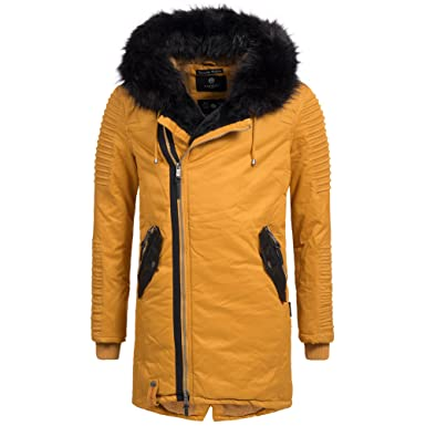 Marikoo Herren Luxus Winter Jacke Mantel Parka Winterjacke warm gefüttert  Wintermantel Kunstfell Osaka Gr. S-XXXL 5-Farben  Amazon.de  Bekleidung c1ad814f0e