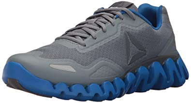 Reebok Men's Zigpulse Running Shoe, Asteroid Dust/Ash Grey/Awesome Blue/ White