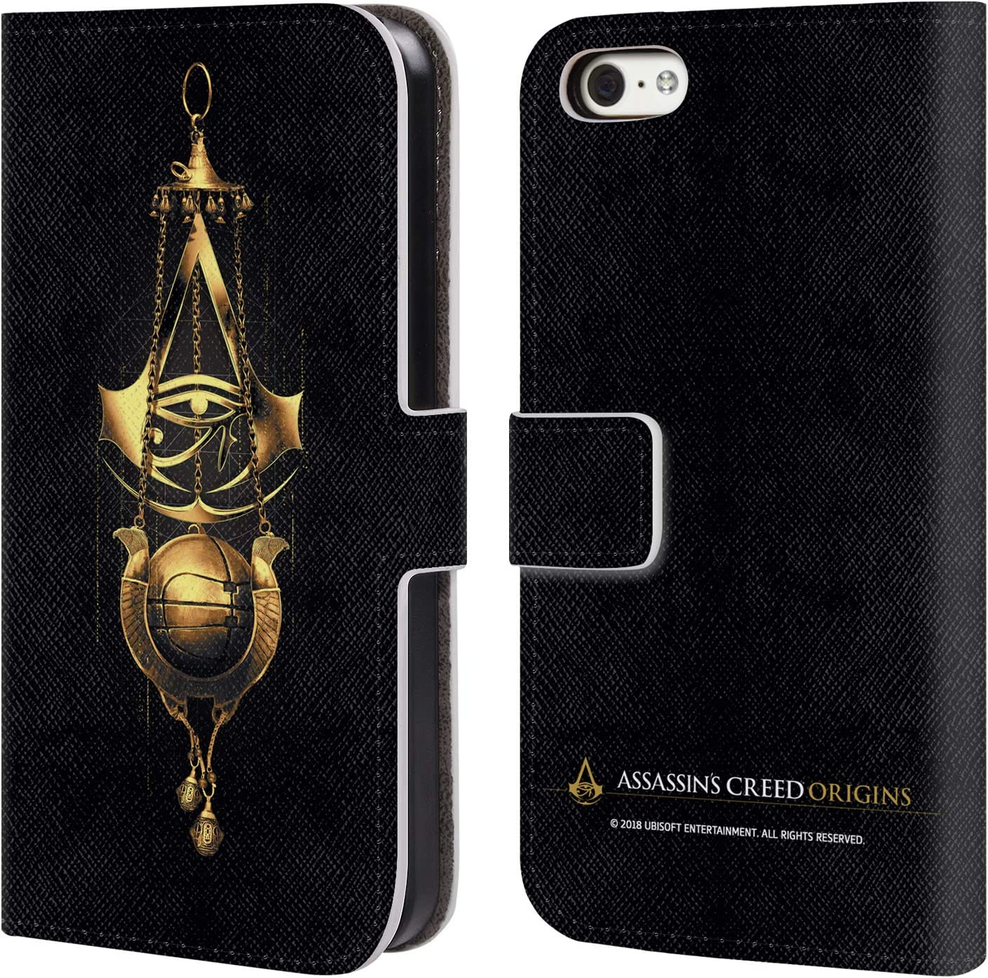 Head Case Designs Officially Licensed Assassin's Creed Piece of Eden Origins Crests Leather Book Wallet Case Cover Compatible with Apple iPhone 5c