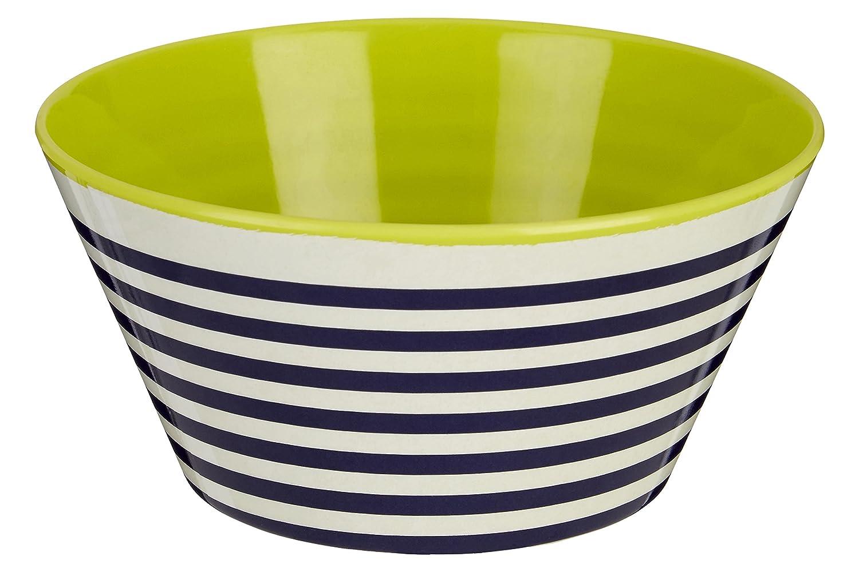 Multi-Colour 15 x 15 x 7 cm Melamine Premier Housewares Mimo Stripe Bowl