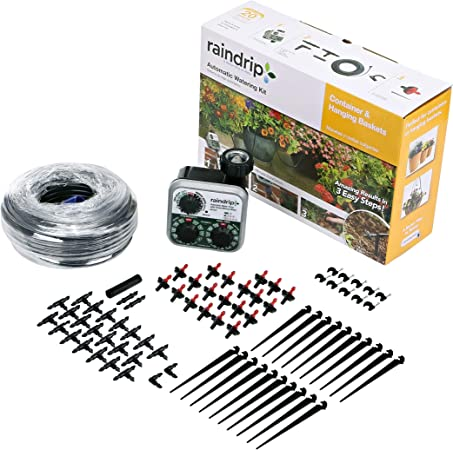 Water up to 20 Plants with This kit Automatic Watering Kit for Container and Hanging Baskets