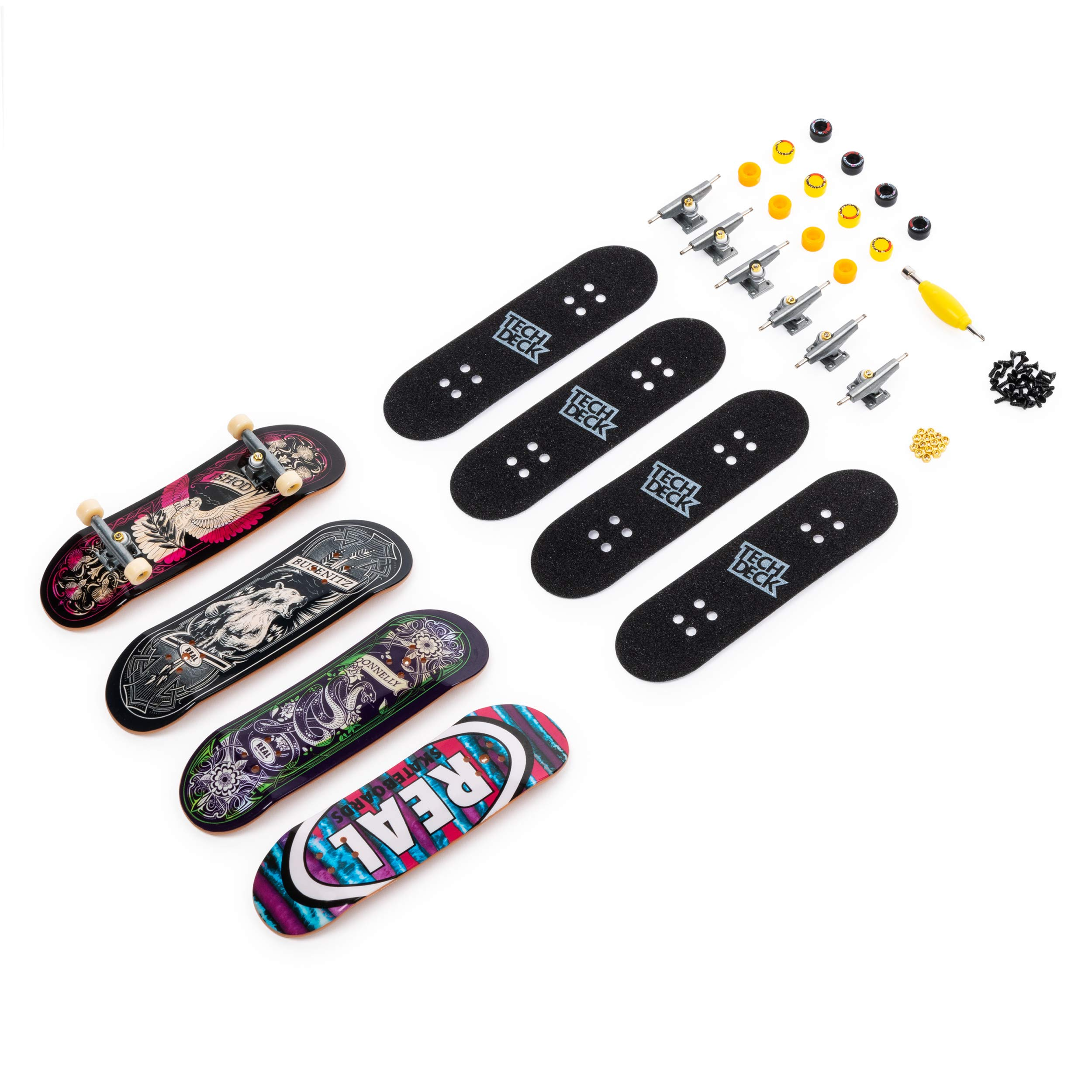 Tech Deck Ultra DLX 4 Pack 96mm Fingerboards - Real Rip 'n Dip Skateboards 20th Anniversary Special Edition by Tech Deck (Image #2)