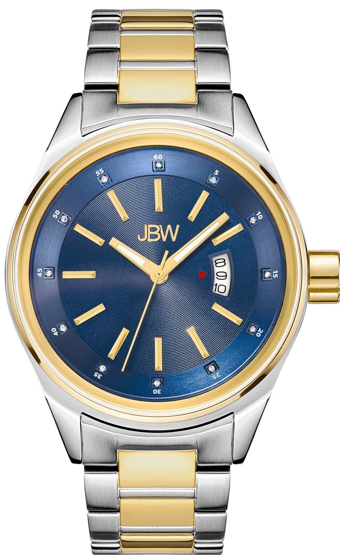 Jbw Men's Genuine Diamond 1/8 Ctw J6287N Rook Two-Tone Stainless Steel & Gold.. 2