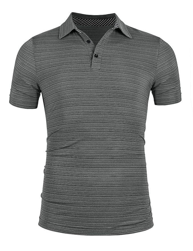 iWoo - Polo para Hombre, Elegante, de algodón, Monocolor, Cuello ...