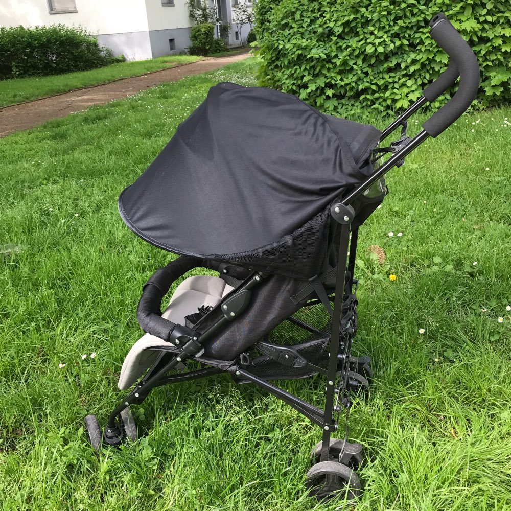 TOOGOO cochecito de bebe parasol Carriage Sun Shade Toldo cubierta para Cochecitos Cochecitos Accesorios Coche Azul