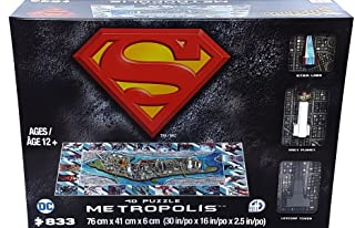 Superman METROPOLIS 4D Puzzle by Cityscape (833 Pieces) china