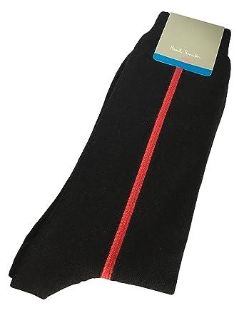 e2ea04e871 PAUL SMITH Mens Knitted Cotton & Nylon Socks Black Red Vertical Stripe One  Size