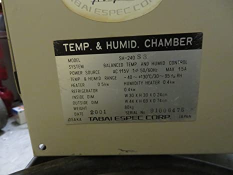 Espec sh-240 bench-top humidity temperature test chamber very.