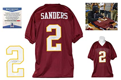 save off e817a dcc1c Deion Sanders Autographed SIGNED Jersey - Beckett Authentic ...