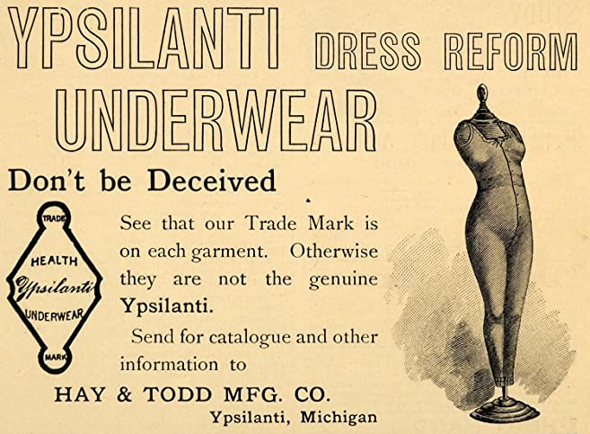 1893 Ad Hay Todd Ypsilanti Dress Reform Underwear Undergarments Clothing -  Original Print Ad
