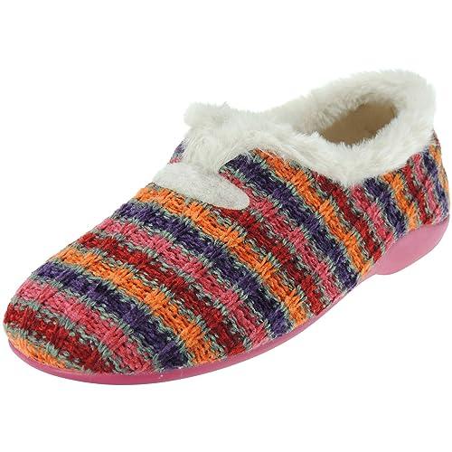 GARZÓN 7900.202 Zapatilla Cerrada Casa Invierno Calentita Pelo Llana para Mujer: Amazon.es: Zapatos y complementos