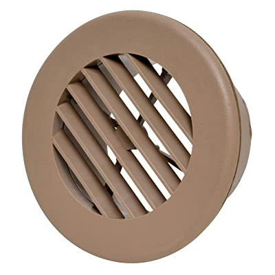 "Valterra A10-3346VP Light Brown Rotating Heat and A/C Register (4"" ID, 5-3/8"" OD): Automotive"