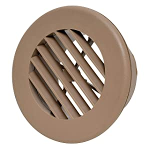 """Valterra A10-3346VP Light Brown 4"""" Rotating Heat and A/C Register (4"""" ID, 5-3/8"""" OD)"""