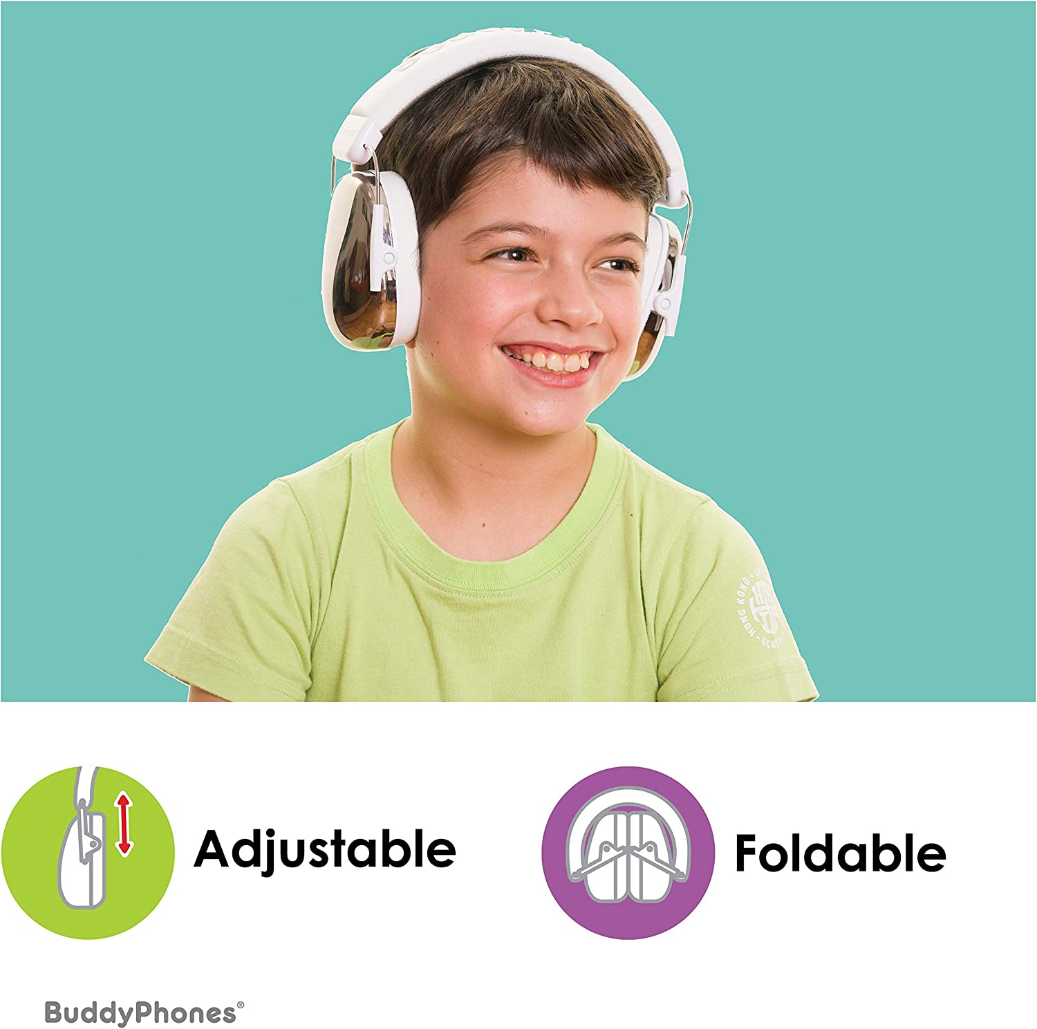 Children and Teens Passive Noise-Cancellation For Safe Hearing Levels Muffs Designed for Noise Reduction 26dB NRR Pink ONANOFF BuddyPhones Guardian Kids Ear Protection Earmuffs Perfect for Toddlers