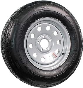 Radial Trailer Tire On Silver Rim ST215/75R14 Load C 5 Hole Modular Wheel