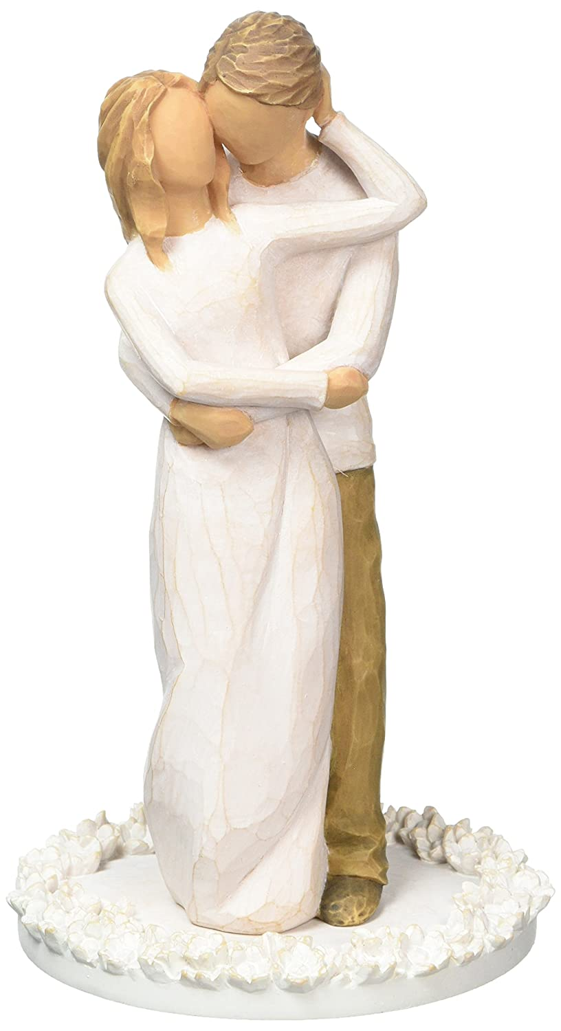 Willow Tree Wedding Bride and Groom Cake Topper, Together