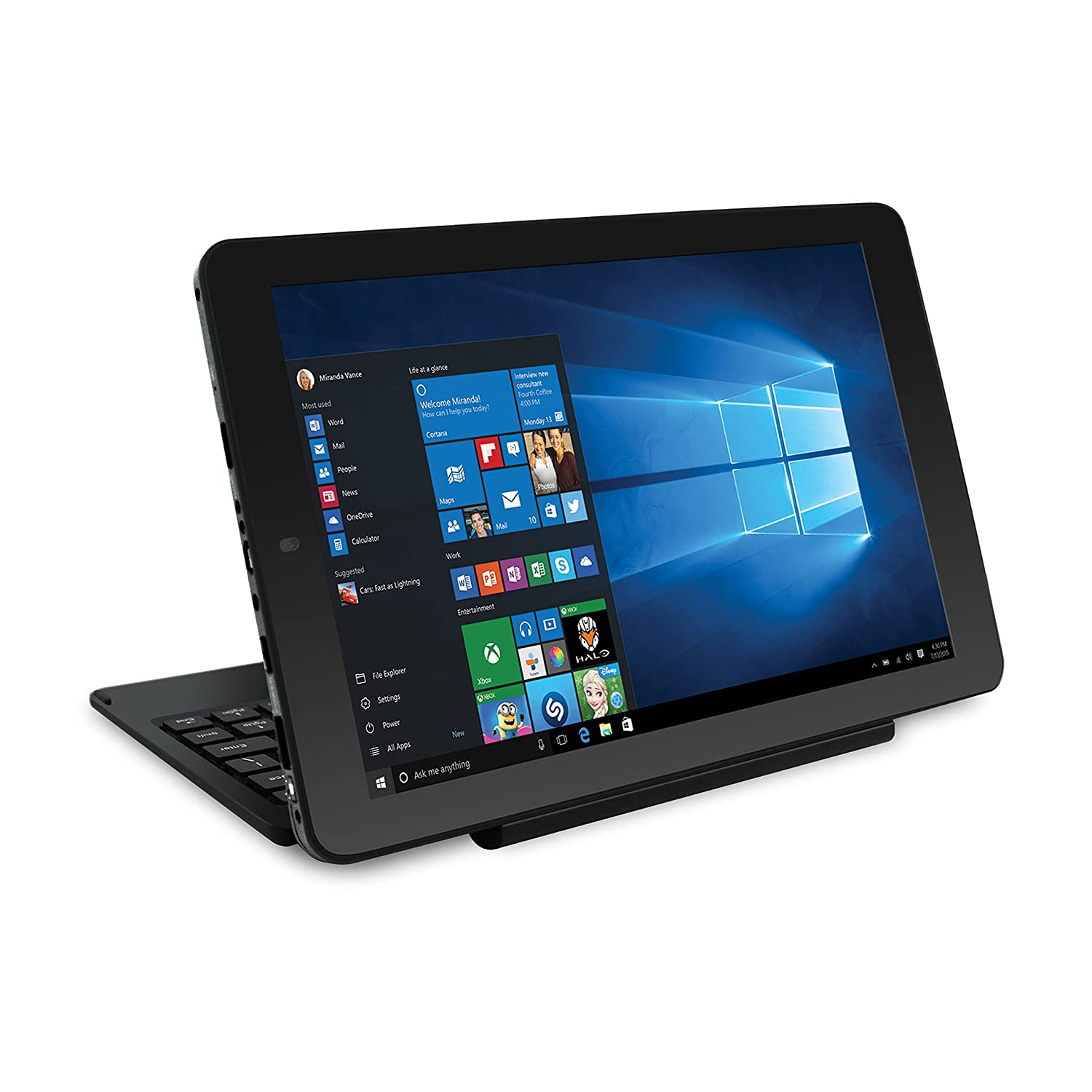 Amazon.com : RCA Cambio 10.1 2-in-1 Tablet 32GB Intel Quad Core Windows 10 Black Touchscreen Laptop Computer with Bluetooth and WIFI Computers \u0026