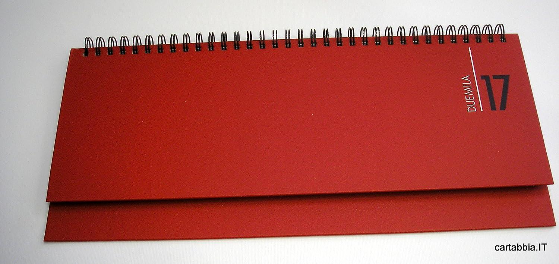 Agenda de mesa, 2017, planning, roja: Amazon.es: Oficina y ...