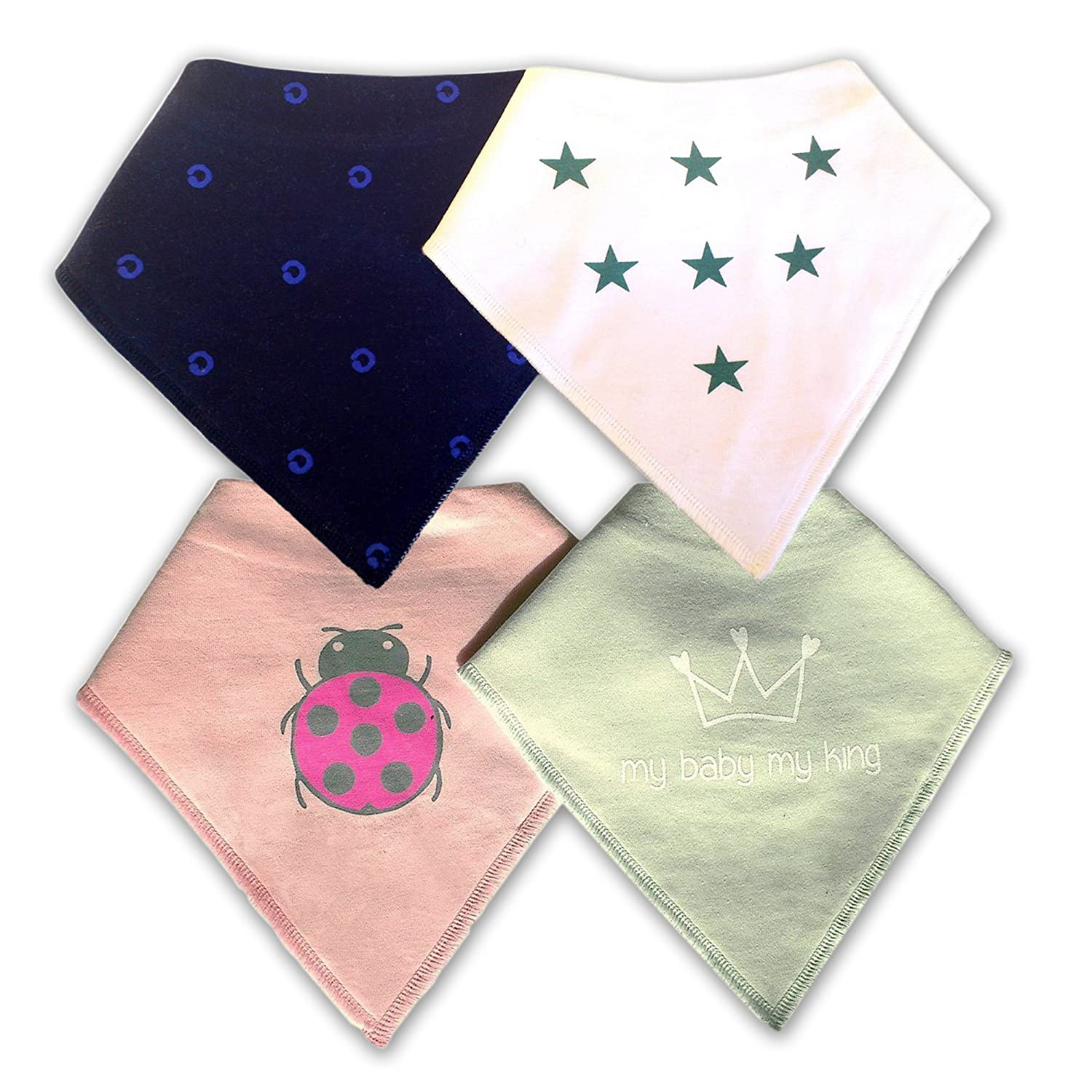 Amazoncom Baby Bandana Drool Bibs Made Of Absorbent Soft 100