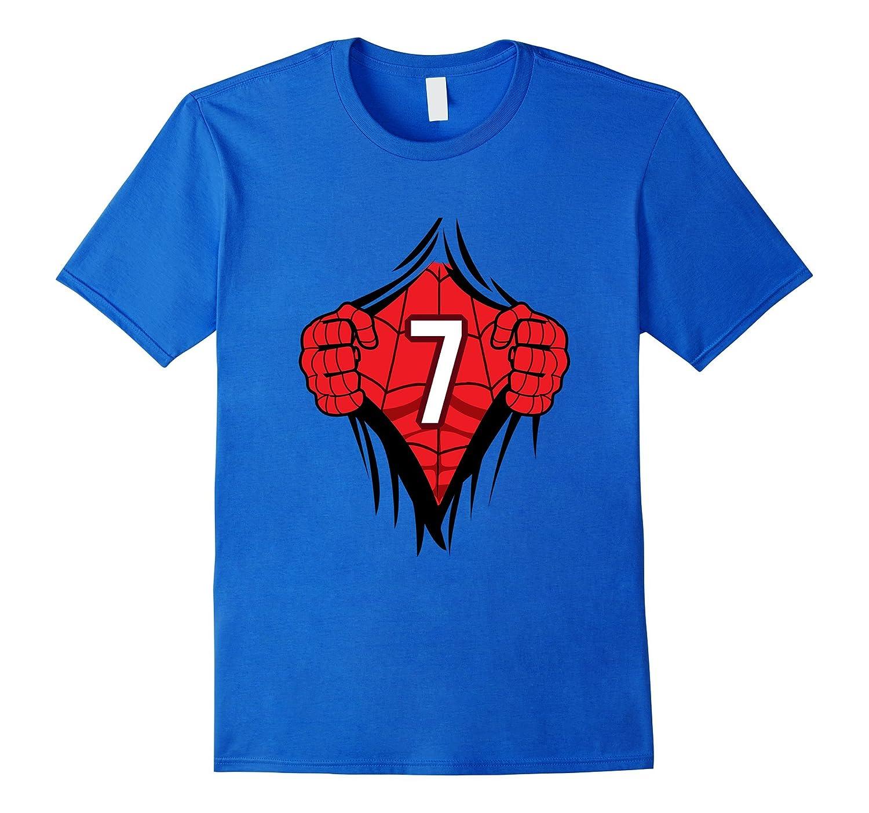 Superhero Birthday Shirt 7 Year Old Tshirt Girls Boys Comic FL