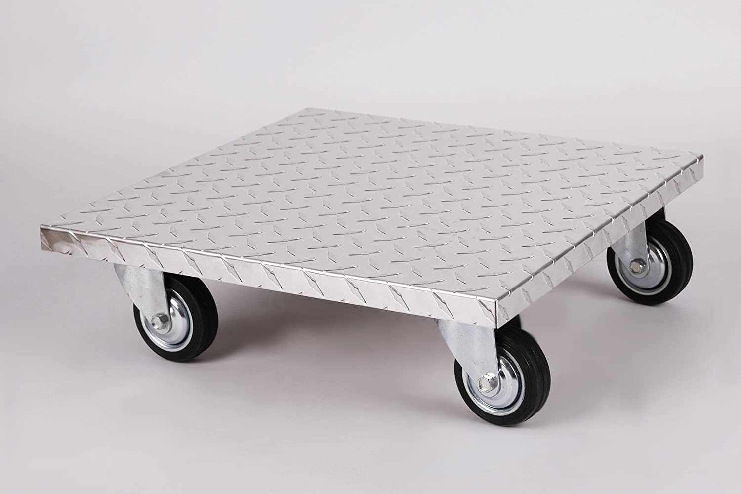 Plant Pot Caddy (Pro) 50x50 cm, ALU, 200kg, large wheels, Brand: Szagato, Made in Germany (Plant Mover, Plant Trolley, Plant Caddy)