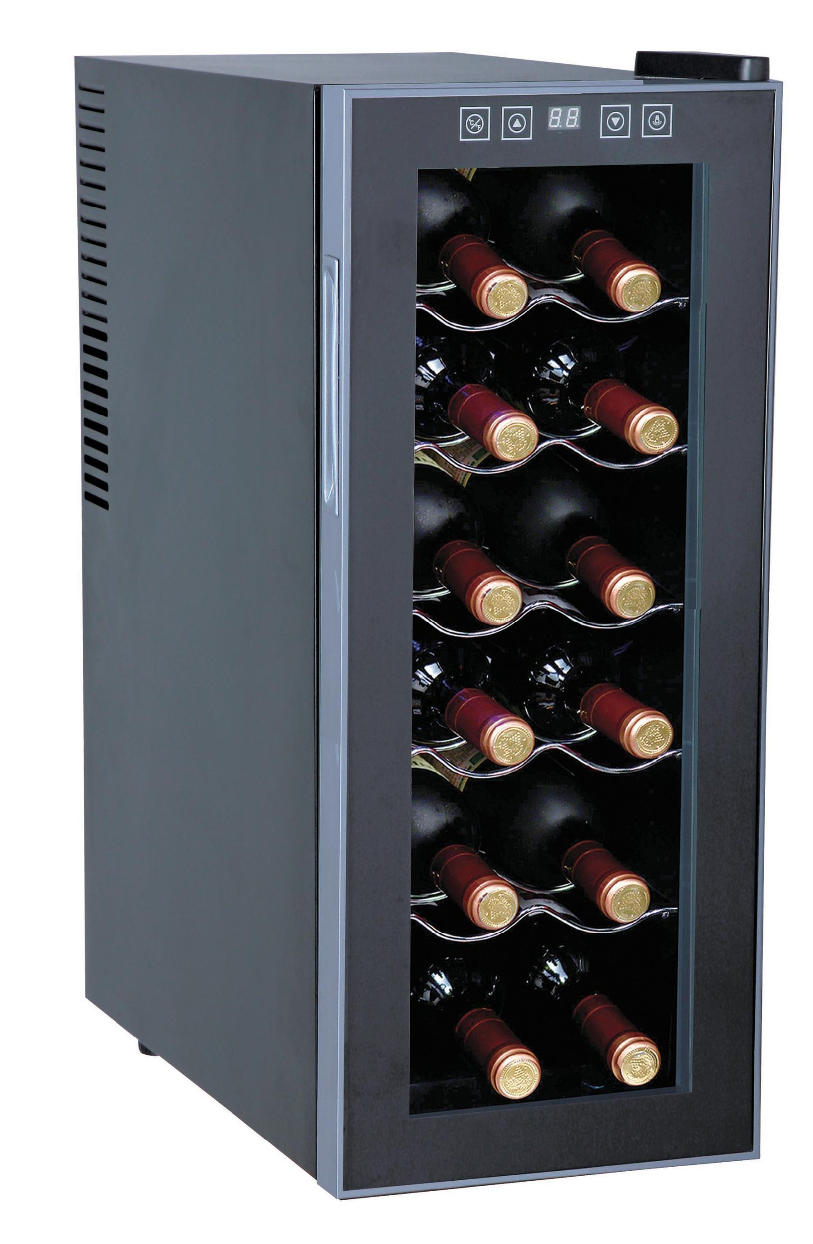 Sunpentown WC-1271 ThermoElectric 12-Bottle Slim Wine Cooler by Sunpentown
