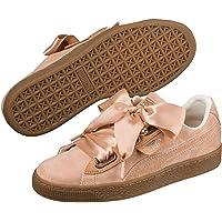 PUMA Womens 36672901 Basket Heart Corduroy Beige Size:
