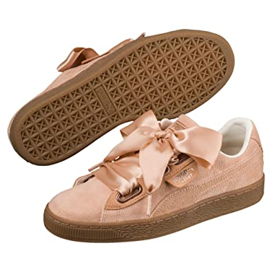 various colors 2e04c cae31 PUMA Women's Basket Heart Corduroy Sneaker