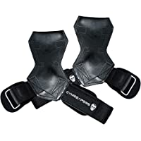 Gymreapers Weight Lifting Grips (Pair) for Heavy Powerlifting, Deadlifts, Rows, Pull Ups, with Neoprene Padded Wrist…