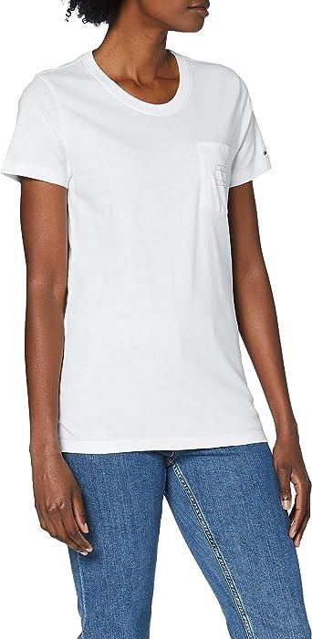 Tommy Hilfiger Tjw Logo Pocket tee Camisa para Mujer: Amazon.es: Ropa y accesorios