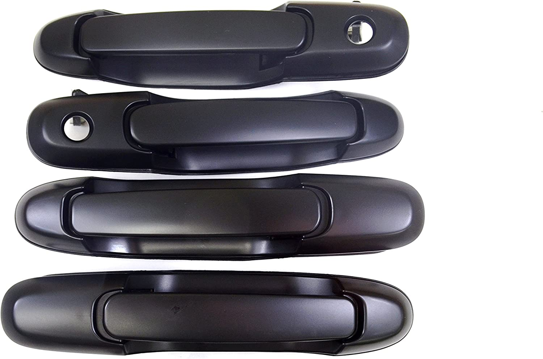 For 98-03 Sienna Door Handle Black Exterior Outside Outer Front Left Driver Side