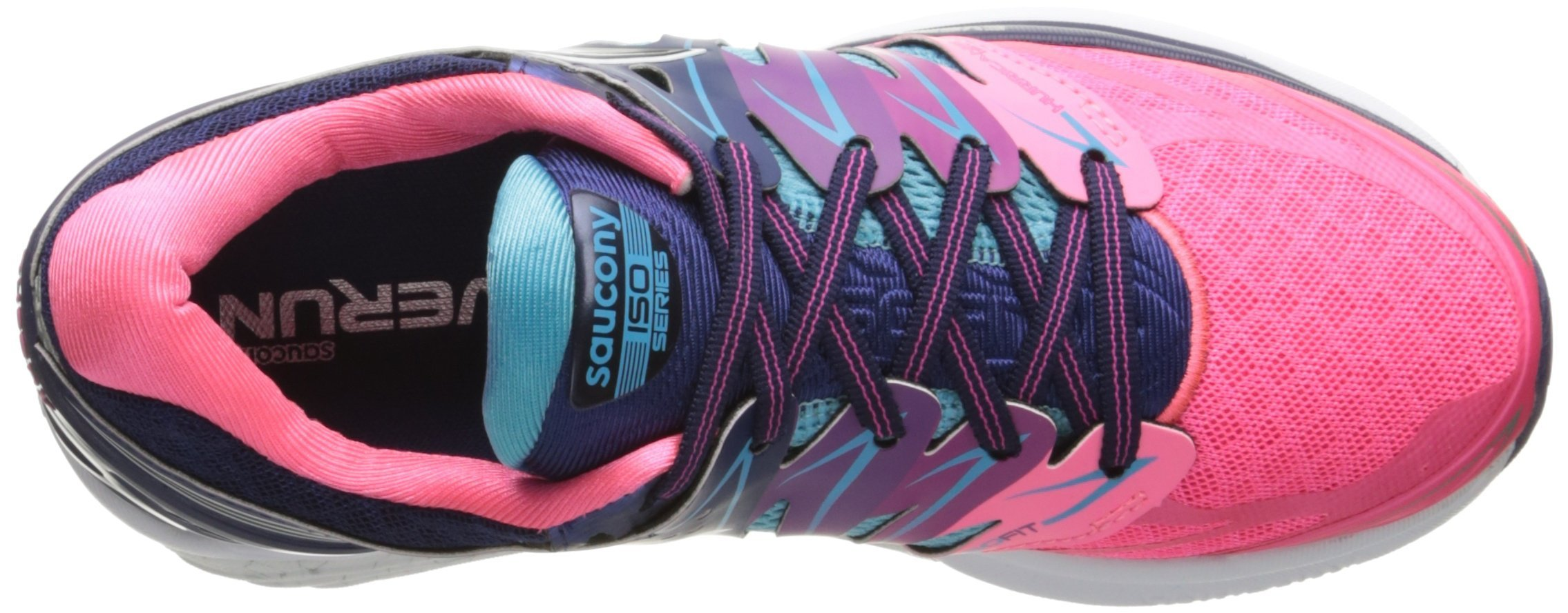 Saucony Women's Hurricane ISO 2 Running Shoe, Blue/Pink, 8 M US by Saucony (Image #6)