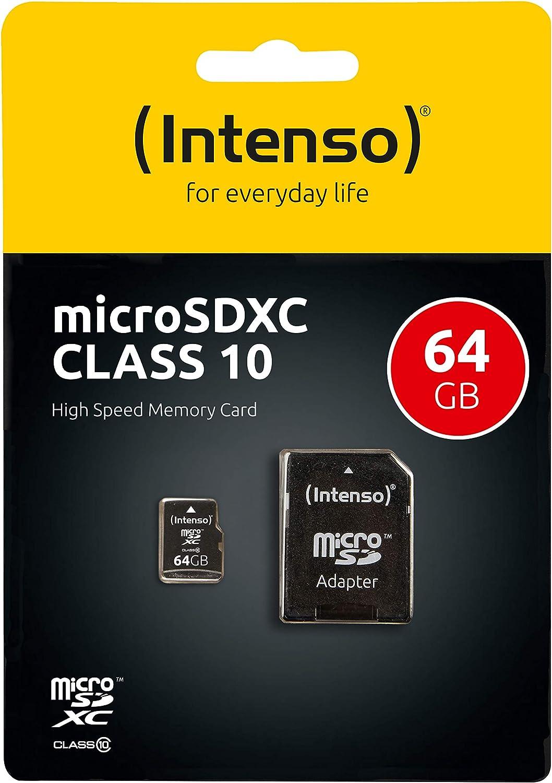 Intenso Micro Sdxc 64gb Class 10 Speicherkarte Inkl Computer Zubehör