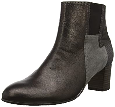 6b5167b29728 Image Unavailable. Image not available for. Color  Gabor Nuthatch Womens  Modern Leather Zip Fastening Ankle Boots ...