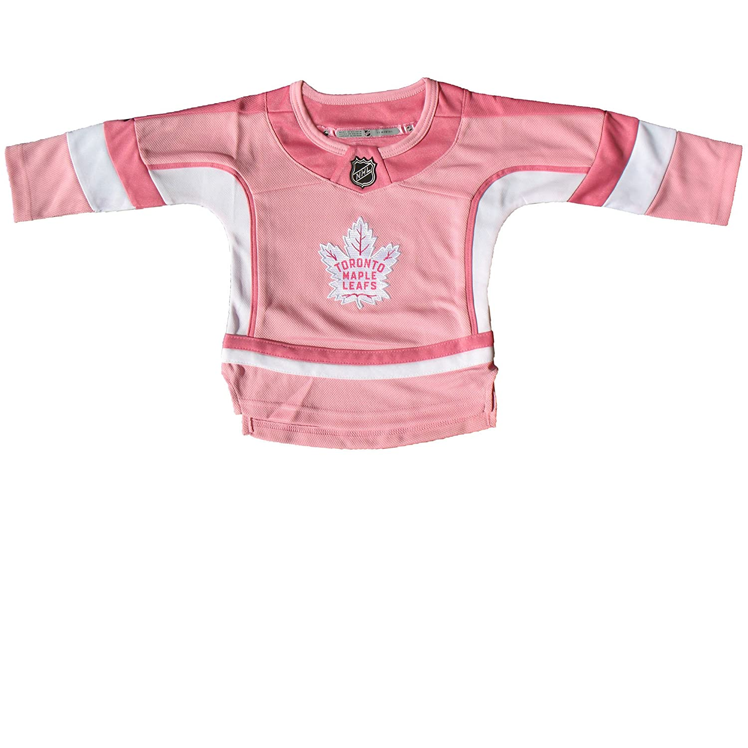 Toronto Maple Leafs Toddler Girls Pink Fashion Jersey Outerstuff