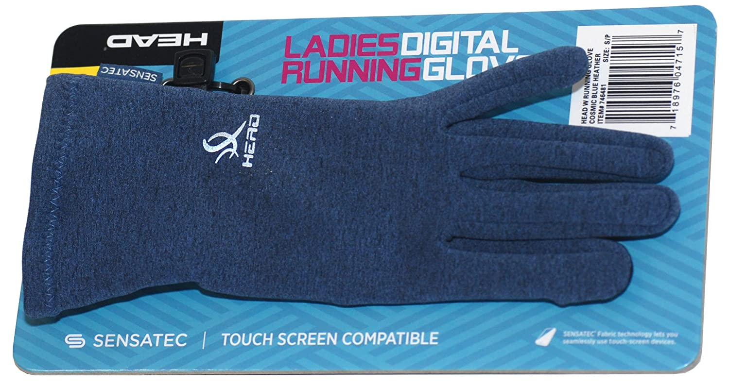 HEAD Sensatec Touchscreen Ladies Digital Running Gloves (Small, Cosmic Blue Heather) 746481