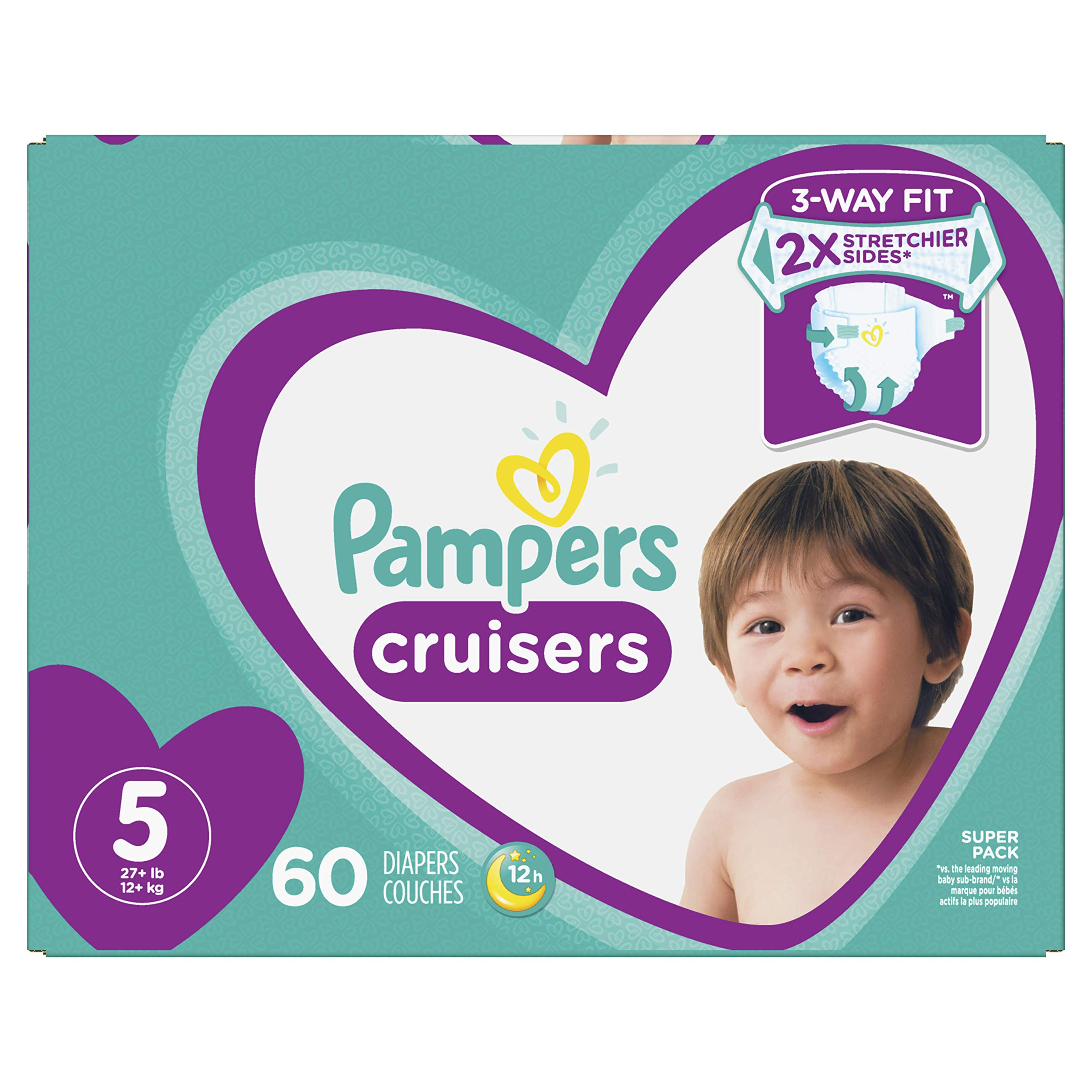 Diapers Size 5, 60 Count - Pampers Cruisers Disposable Baby Diapers, Super Pack by Pampers