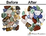 Polly Plastics Rock Tumbler Tumbling Media Grit Kit & Plastic Filler in Heavy Duty Resealable Bags