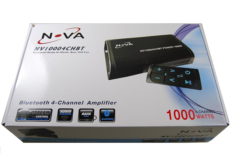 Novasonic防水Bluetooth 4チャンネルアンプ – Marine、ボート、ゴルフカート B077NXL3CW