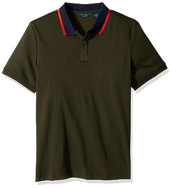 Perry Ellis Hombre 4CFK7142 Manga Corta Camisa Polo - Verde ...