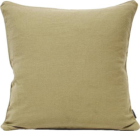 Just Contempo - Funda de cojín de algodón y Lino, Mezcla de algodón, Stone Beige, 55 x 55 cm: Amazon.es: Hogar