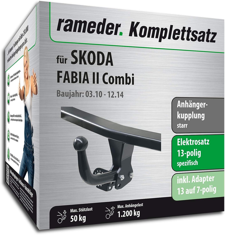 Rameder Komplettsatz 156293-06395-1 13pol Elektrik f/ür Skoda Fabia II Combi Anh/ängerkupplung starr