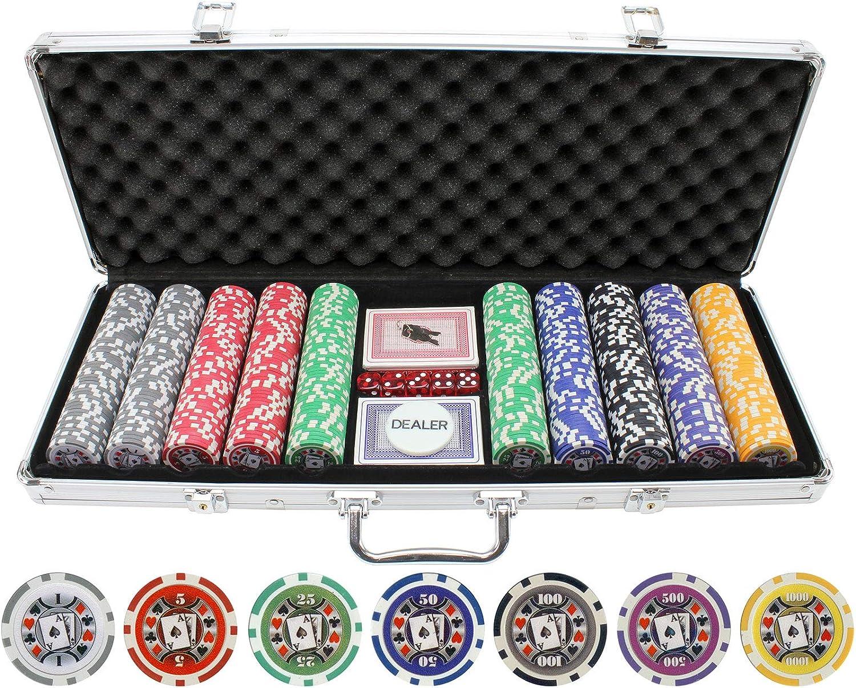 Amazon Com Jp Commerce 500 Piece Big Slick 11 5g Poker Chip Set Sports Outdoors