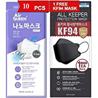 Air Queen Face Mask Nano fiber, Individually packed Air Queen (10)- 1PC (Black) All Keeper Mask Offer