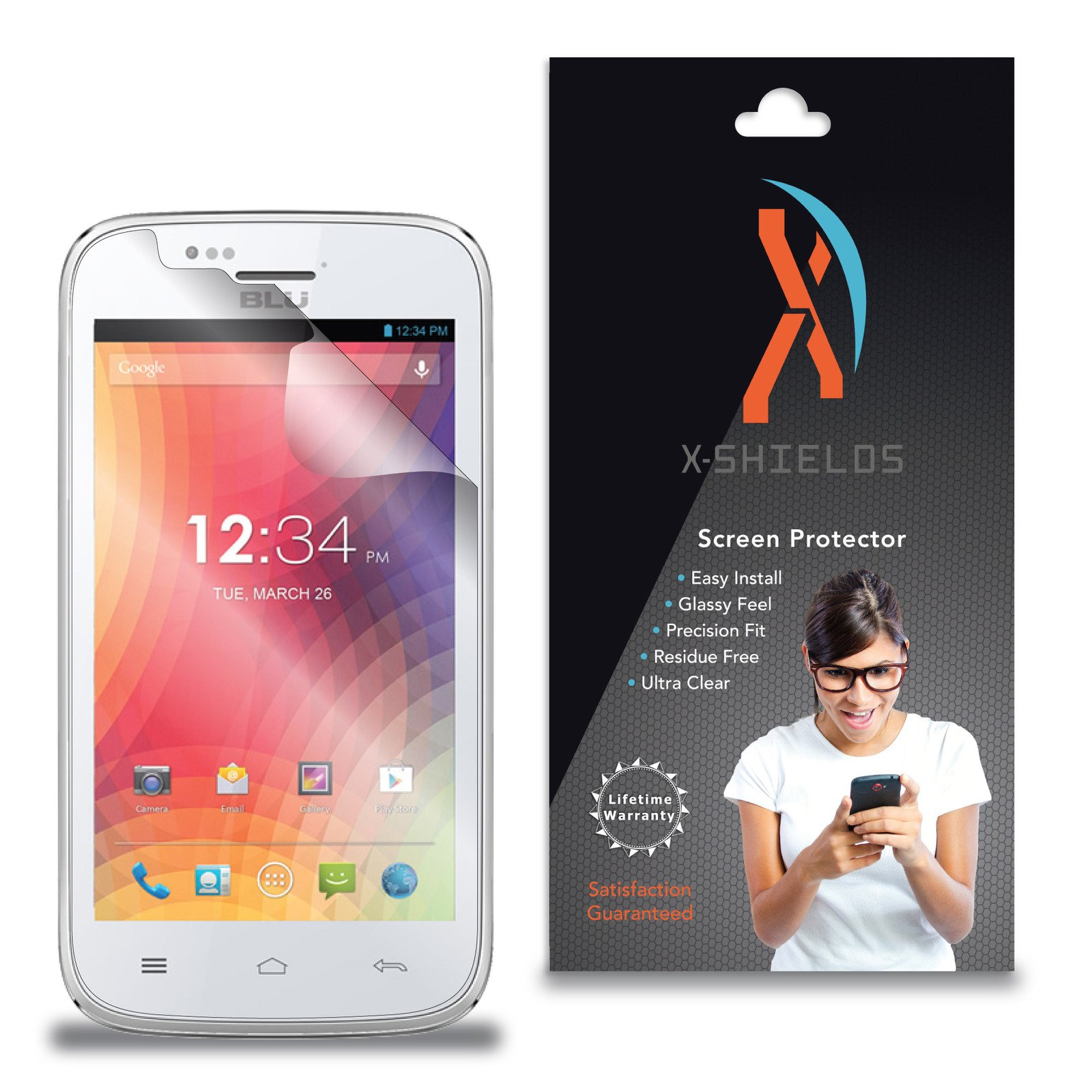 XShields© (3-Pack) Screen Protectors for BLU Advance 4.0 (Ultra Clear) by XShields© (Image #1)