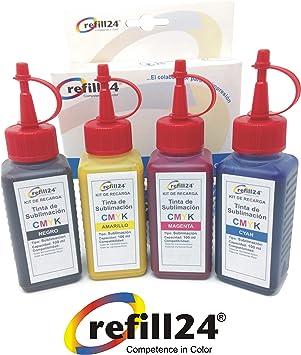 Tinta DE SUBLIMACION EPSON Compatible con impresoras EPSON 400ml ...