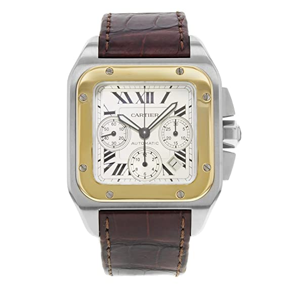 Cartier Santos 100 Automatic-Self-Wind Mens Reloj w20091 X 7 (Certificado)