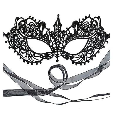ba9986188f2bf Amazon.com: The Authentic 50 Shades Darker Ana Masquerade Mask - Luxury  Lace Anastasia Goddess Mask (Black): Clothing