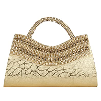 Aadhunik Libaas Party Wear, Fashion Fancy Stylish Women�s Hand Bag (Golden)