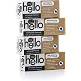 Hello Oral Care Activated Charcoal Whitening Toothpaste with Fluoride, Vegan & SLS Free, 4 Count